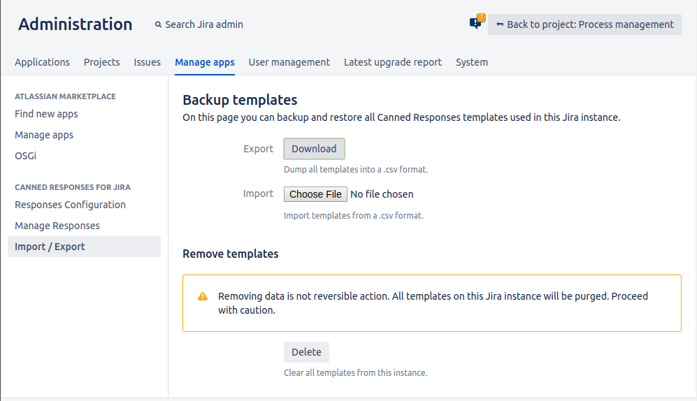 canned responses pro for jira screen 1